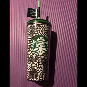 Starbucks tall Halloween glow in the dark tumbler